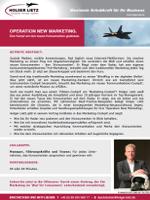Keynote Speaker Holger Lietz: Keynote-Abstract 'NEW MARKETING