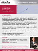 Keynote Speaker Holger Lietz: Keynote-Abstract 'UNDER FIRE'